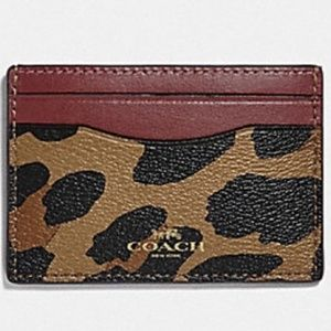 NEW Coach Leopard Credit Card & ID Holder